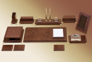 WOVEN PREMIUM LEATHER DESKSET