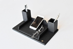 LEATHER , PHONE AND GLASSES HOLDER