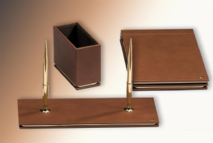 GOLD Leather Desk Set