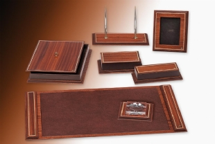 WOODY Luxury Leather Desk set