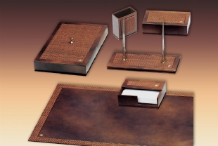 WOVEN Luxury Leather Desk set