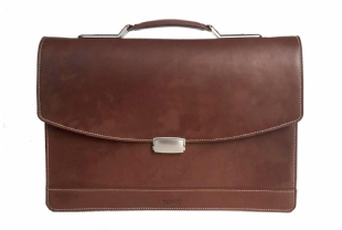 LEATHER BRIEFCASE - 6077