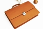 21113 LEATHER BRIEFCASE - CAMEL