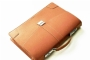 21613 LEATHER BRIEFCASE-  CAMEL