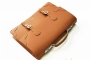 22113 LEATHER BRIEFCASE - CAMEL