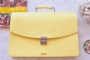 25202 LEATHER BRIEFCASE- YELLOW