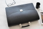 25219 LEATHER BRIEFCASE - BLACK